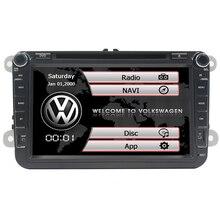 8 pulgadas 2 Din Reproductor de DVD Estéreo Del Coche de Navegación Para VW POLO GOLF PASSAT CC JETTA TIGUAN gps de radio de coche con Bluetooth SWC Mapa