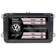 eight inch 2 Din Automotive DVD Participant Stereo Navigation For VW POLO GOLF PASSAT CC JETTA TIGUAN automobile radio gps with Bluetooth SWC Map
