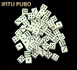 Juego de dados de plástico estándar, juego de 50 unidades por lote, #8, 8mm, dados de decisor blanco, juguete de troquel, juego de mesa para bar GYH