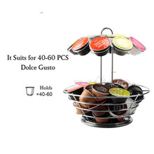 Dolce Gusto Nespresso Coffee Pod Holder Steel Metal Stand Rack Cafe Organizer Storage Capsule Shelf Free Shipping