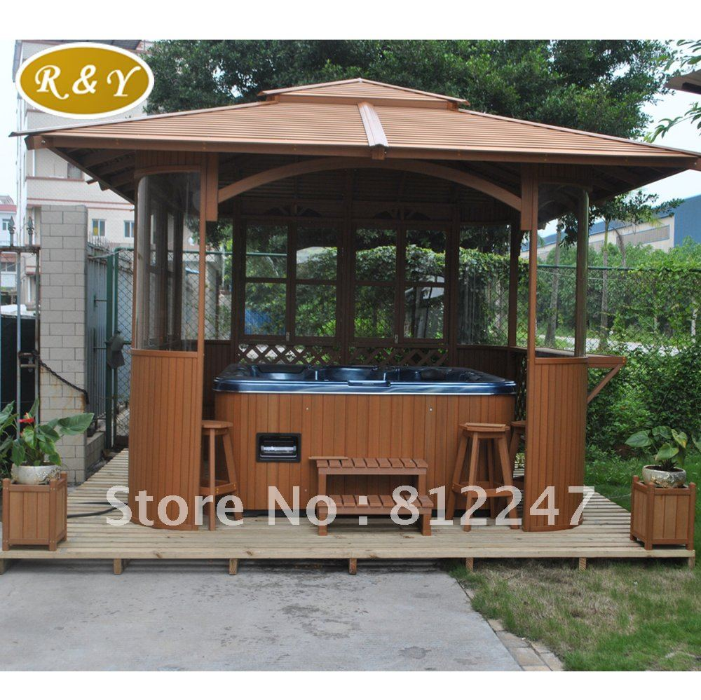 forever hot beautiful and gazebo plans www design enclosure list material garden easy home pavilions tub from redwood bar smaller no