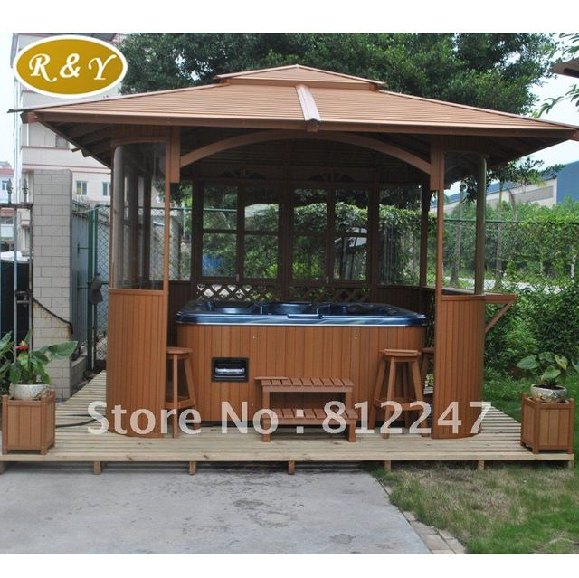 Outdoor Spa House Hot Tub Outdoor Wooden Gazebos