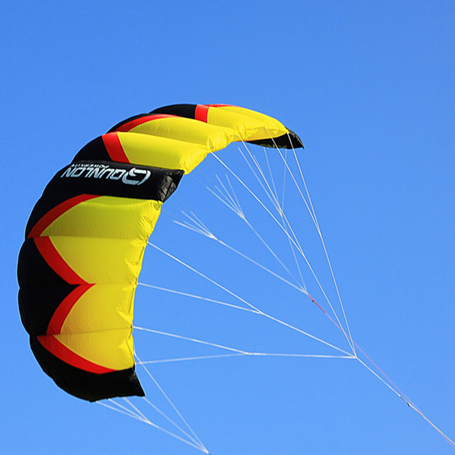 3Sqm 3 Lines Traction Kite Power Kite Parafoil Parachute Kite For Beginner Kitesurfing Kiteboarding Trainer 3 sqm nylon fabric dual line stunt kite red color kite surfing parafoil traction kite for beginner