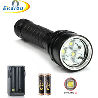 high quality Waterproof 8000 Lumens led Diving Flashlight Torch Diving Powerful led Waterproof Underwater Diving Flashlight