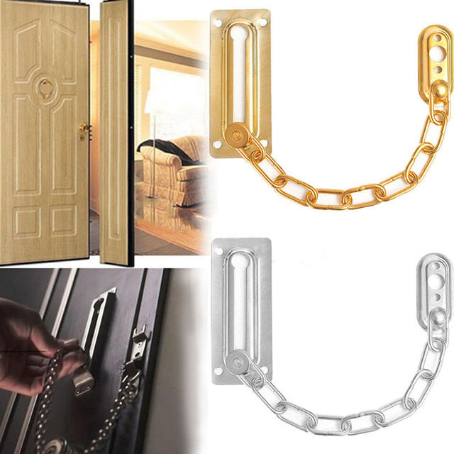 Chrome Chain Door Safety Guard Latch Security Peep Bolt Locks Cabinet Latches DIY Home Tools & Aliexpress.com : Buy Chrome Chain Door Safety Guard Latch Security ... Pezcame.Com