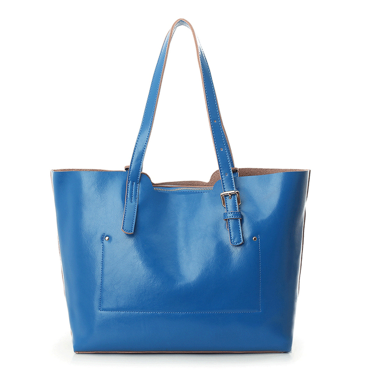 Women Oil Waxing Leather font b Handbags b font New Designer Fashion Ladies Shoulder Bag Cowhide
