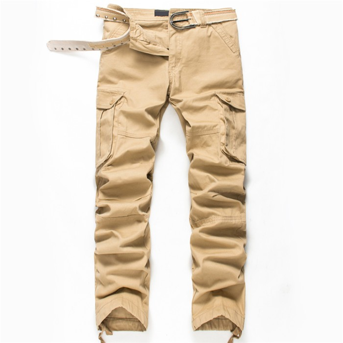 BOLUBAO New Men Cargo Pants Men Multi Pockets Pants Military Camouflage Track Pants Trousers Mens Elastic Waist Pant 38