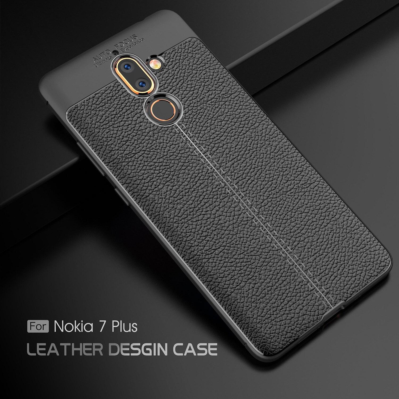 Защитить телефон чехол для Nokia6 2018 7 кожа Дизайн Мягкий силиконовый чехол для Nokia7Plus Nokia1 3 <font><b>5</b></font> 8 2 Slim телефон сумка аксессуар