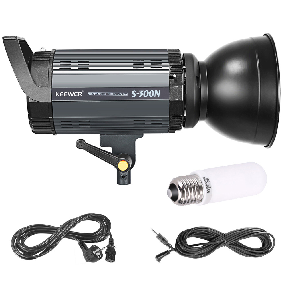 Neewer S300N Professional Studio Moonlight Strobe Flash Light 300W for Indoor Studio Location Model and Portrait Photography