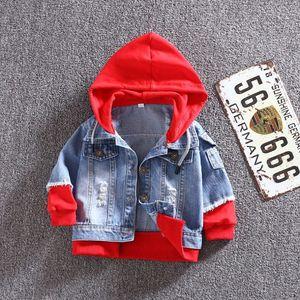 Image 3 - Kot Ceket Kız Çocuklar 2019 Bahar Erkek Hoodies Ceket Denim Uzun Kollu Giyim Çocuk Rüzgarlık 1th 2 3 4 5 7 yıl
