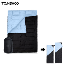TOMSHOO Thermal 2-in-1 Double Sleeping Bag with Pillows