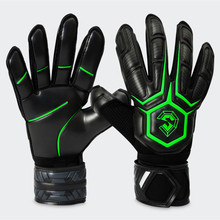 2018 Professional Soccer goalkeeper gloves Finger Protection 3mm Imported Latex Football Goalie De Futebol Gloves sports safety(China)
