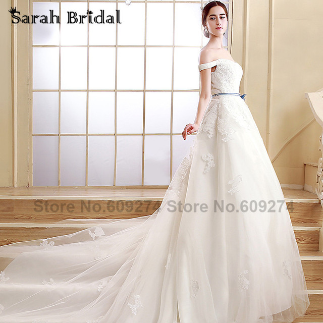 Chic Ivory Lace Royal Train Wedding Dresses 2017 Hot Sale Country ...