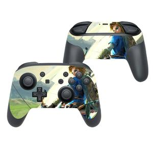 Image 2 - The Legend of Zelda Cover Decal Skin Sticker for Nintendo Switch Pro Controller Gamepad Joypad Nintend Switch Pro Skin Stickers