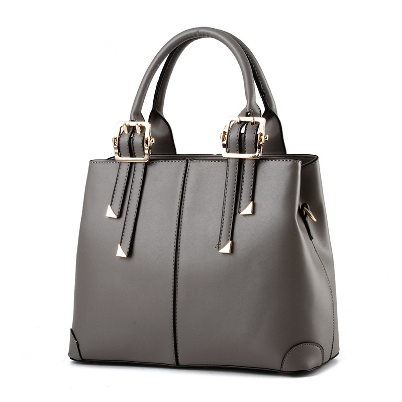 Fashion PU Office Lady Shoulder Bag Grey Elegant Women Handbag Casual Clutch Tote elegant pu office lady business handbag casual clutch fashion women shoulder bag zipper pink