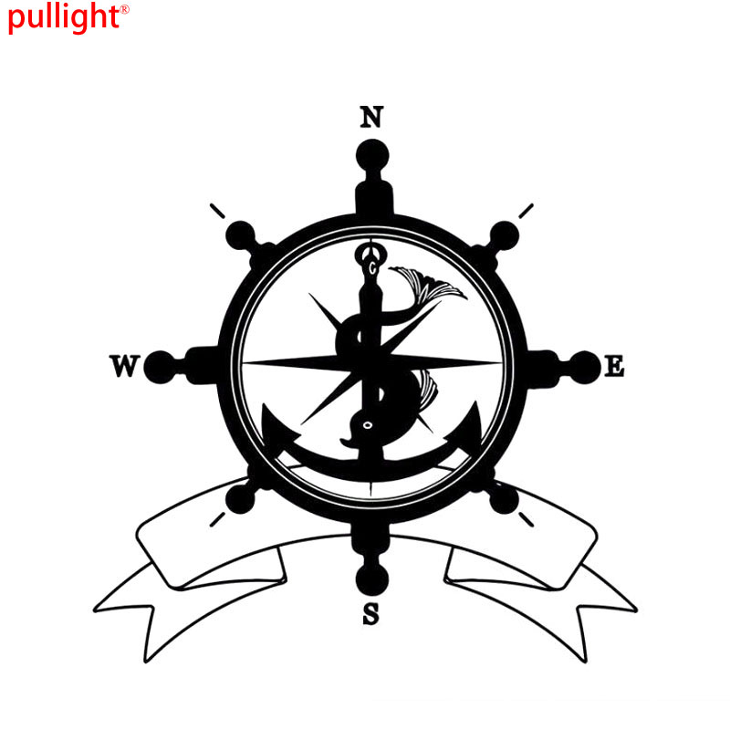 Nswe Мода Море руля Флаг символ якорь Компасы путешествия Пираты парусный спорт автомобиль Стикеры