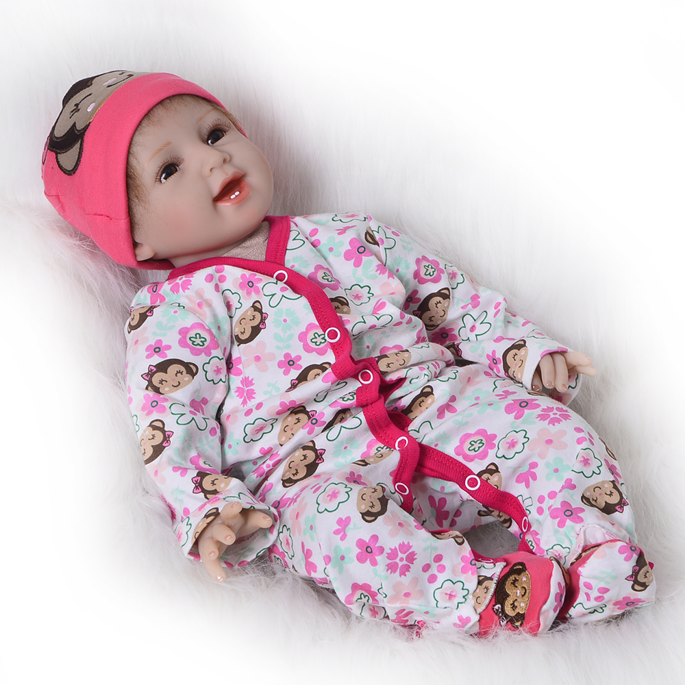 22'' Realistic Silicone Vinyl Reborn Dolls Babies 55 Cm Cloth Body Lifelike Newborn Doll Girl Toy For Kids Festival XMAS Gifts цена 2017