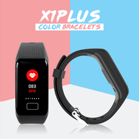Colorized 0.96 Screen Wristband Watch X1PLUS Bracelet Band Blood Pressure Blood Oxygen Heart Rate 3 Colors Sleep Health