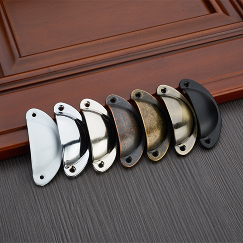 5pcs Metal Retro Cupboard Drawer Knobs Cupboard Antique Brass Door Handle Jewelry Box Pulls Furniture Accessories Home Decor