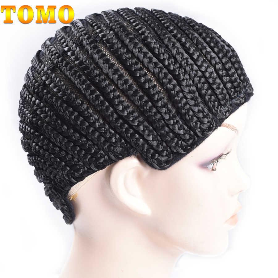 TOMO Горячая продажа основа для афрокосичек для изготовления париков поставщик фабрики дешевый парик кепка бесплатная доставка черная коробка Плетеный парик крышка s