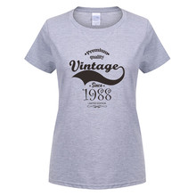 Omnitee Vintage 1988 T-shirt Women O-neck Cotton Short Sleeve Female Girls 30th