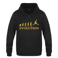 Basketball Evolution Creative Novelty Hoodies Men 2018 Men's Pullover Fleece Hooded Sweatshirts
