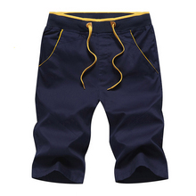 2017 New Fashion Men Shorts Cool Casual Hit Color Design Short Trousers 100%Cotton Beach Vacation knickers Man Plus Size YN10087