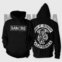 Sons of Anarchy 2016 autumn and winter new US drama samcro SOA hedging cotton sweatshirt fleece Unisex Hoodies Sweatshirts