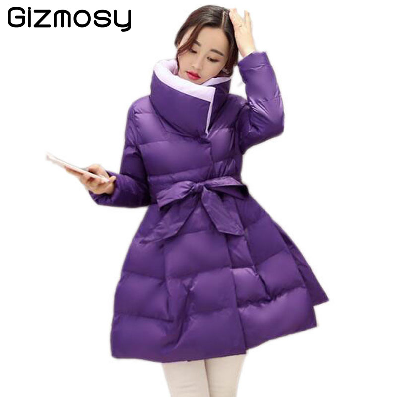 New Winter Jacket Women Winter Down Coat Womens Long Cotton Padded Slim Jacket Warm Skirt Hem Coat Female Winter Outwear BN031 long coat womens jacket new printing was thin down cotton padded thick coat windbreaker