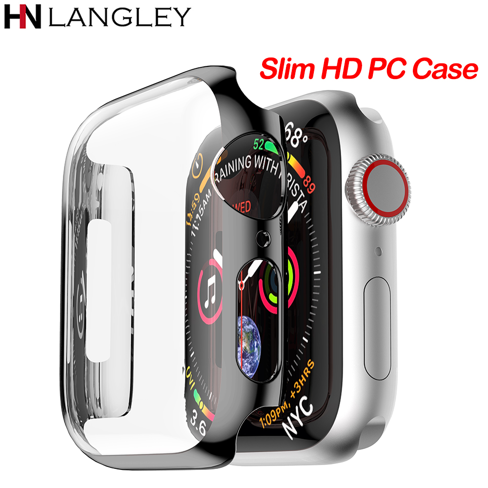 Ultra Thin HD PC Case for Apple Watch Series 4 3 2 1 38 42 40 44 mm Case Built in Hard Screen Protector Cover for iWatch bandUltra Thin HD PC Case for Apple Watch Series 4 3 2 1 38 42 40 44 mm Case Built in Hard Screen Protector Cover for iWatch band