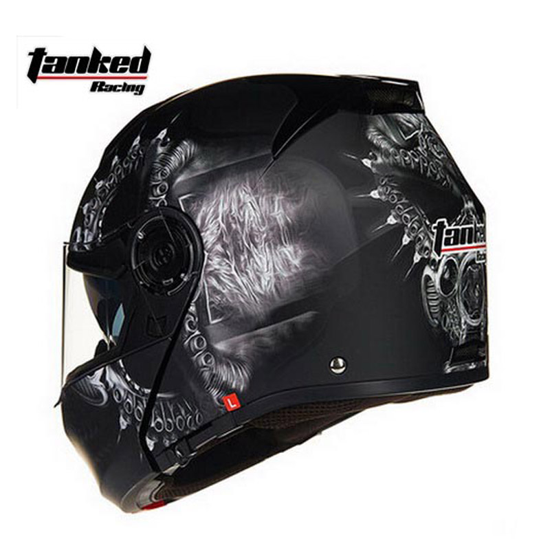 2016 Winter warm Tanked Racing open face motorcycle helmet ABS T270 undrape face Motorbike helmet motocross MOTO helmets yohe undrape face motorcycle helmet yh 936 open face moto racing helmets made of abs visor is for pc material