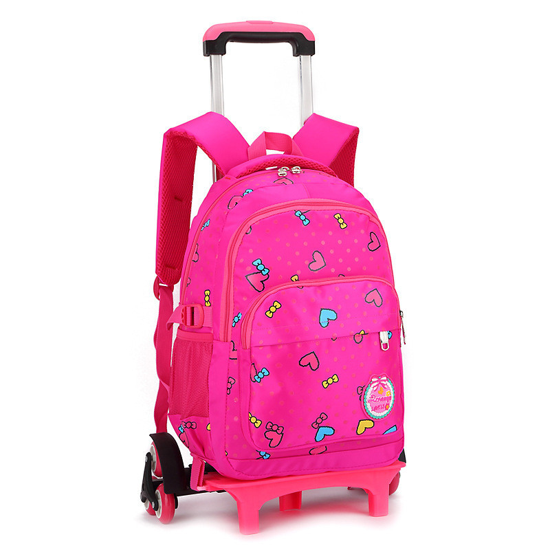 Brand Kids Travel Trolley Backpack On Wheels Girl S