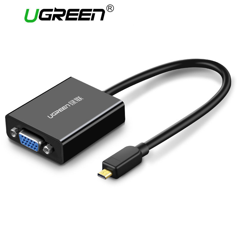 Ugreen activo Micro HDMI al adaptador de vídeo VGA con 3,5mm Audio y Micro USB Power para Ultrabooks tabletas smartphones cámaras