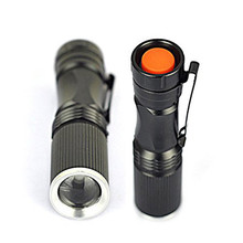 New Mini 600Lumen LED Flashlight Q5 Torch Light Adjustable Focus Zoomable Lamp Outdoor Hiking Camping Lighting(China)
