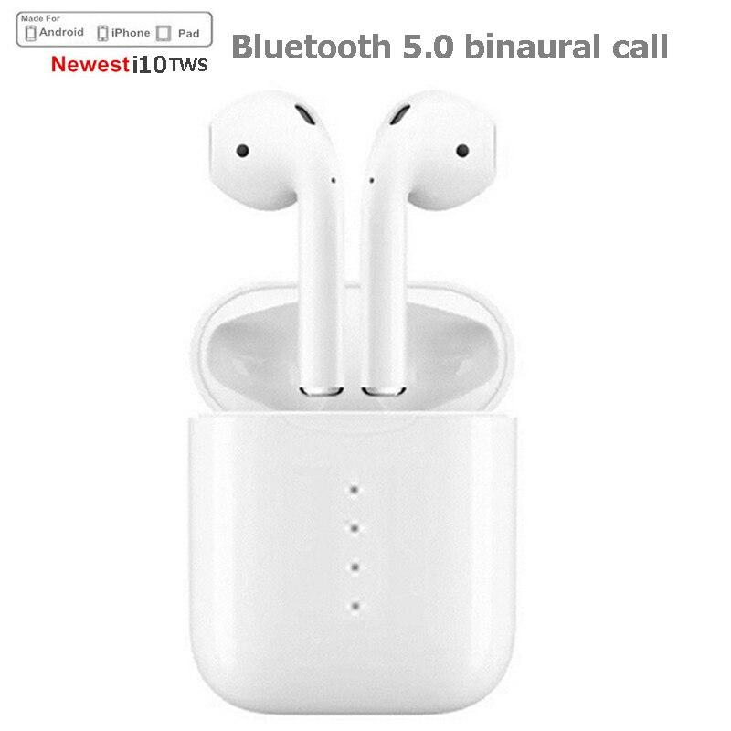 Newest i10 tws Bluetooth wireless Earphones Bluetooth 5.0 Ea