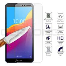 9H Toughened Hardness Glass for Huawei Y5 Y6 Y7 Prime 2018 Tempered Glass for Honor 7A 7C Pro Safety Film Glass For Honor 7A 7C(China)