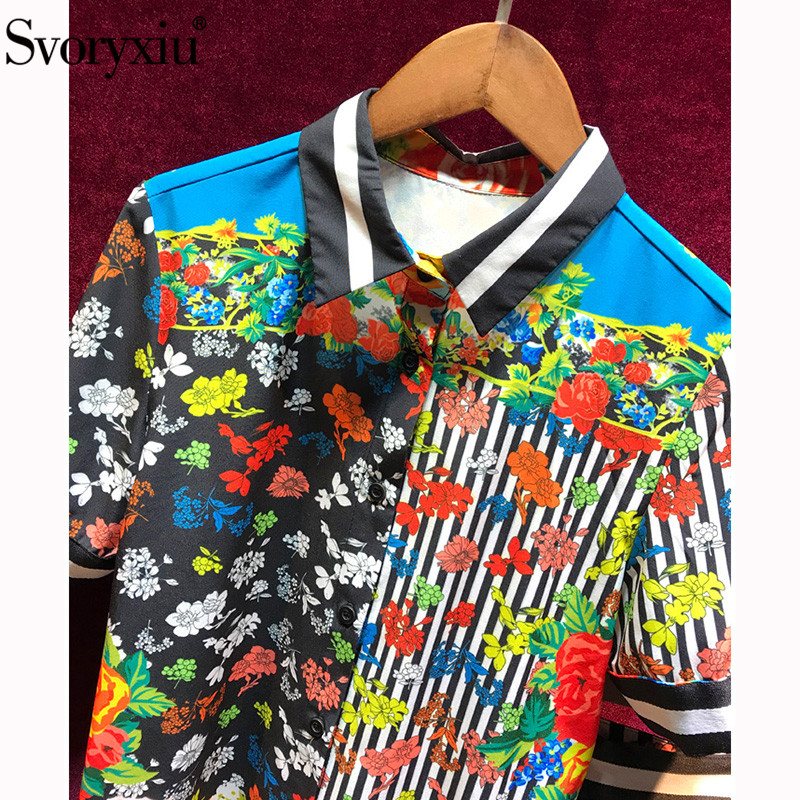 Kadın Giyim'ten Kadın Setleri'de Svoryxiu Moda Pist Vintage Şerit Çiçek Baskı Etek Takım Elbise kadın Yüksek Kaliteli Yaz Kadın Plaj Tatil Iki Parça Set'da  Grup 3