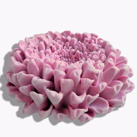 PRZY SiliconeBlooming Chrysanthemum 2 Parts Assembled 3D Cake Decoration Handmade Soap Candle Aroma Stone Mold