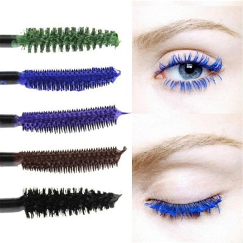 1pc Womens Colorful Mascara Gradient Curling Eyelash Cosmetic Blue Purple Brown Black Makeup Cosmetic Tool Maquiagem