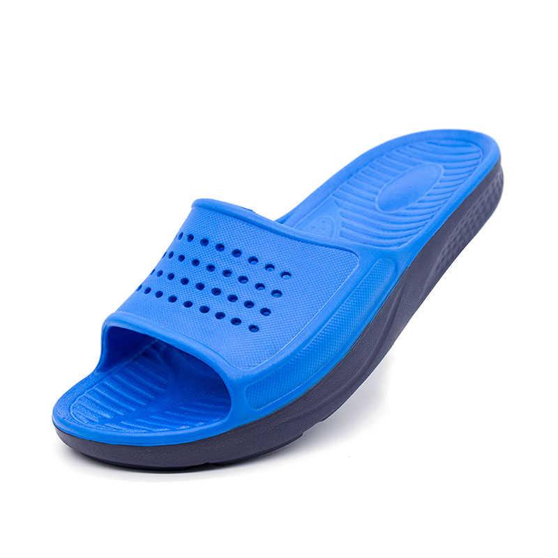 ชายรองเท้าแตะรองเท้าแตะรองเท้าแตะรองเท้าแตะสไลด์ชายปลารองเท้าฤดูร้อนรองเท้าแตะกลางแจ้งรองเท้าแตะชายหาด Flip Flop Plus ขนาดรองเท้า EVA รองเท้า