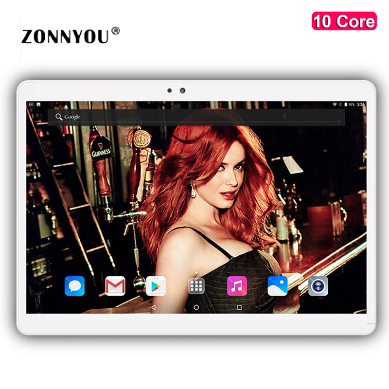 10 1 inch Tablet PC Android 7 0 1920x1200 4G Lte Ram 4GB Rom 32GB Octa