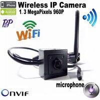 H.264 Onvif 1.3 Megapixel 960 P Hd 3.7mm Pin hole Lens Mini Wifi IP Camera Con Microfono Covert CCTV Macchina Fotografica di Sicurezza HI3518E