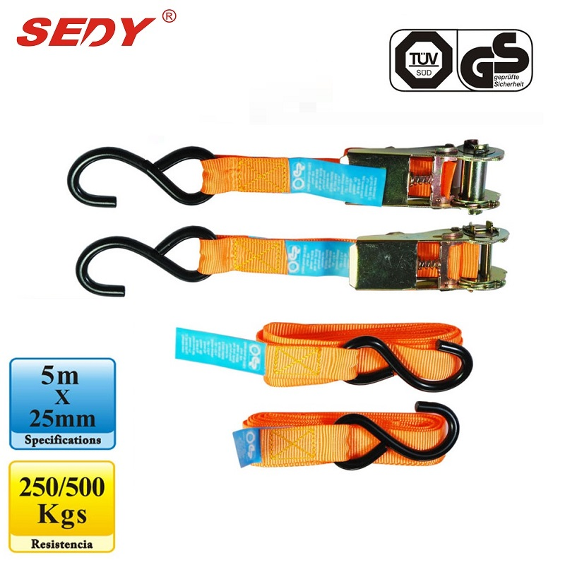 2pc Tie Down Straps 5m x 25mm Ratchet Retractable Adjustable Belt Ropes tie down straps 5m x 25mm ratchet strap retractable adjustable belt ropes cord
