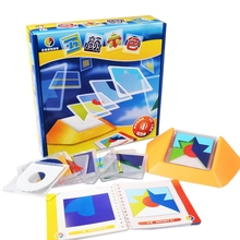 100 Challenge Color Code Puzzle Games Tangram Jigsaw Board Puzzle Toy Children Kids Develop Logic Spatial Reasoning Skills Toy