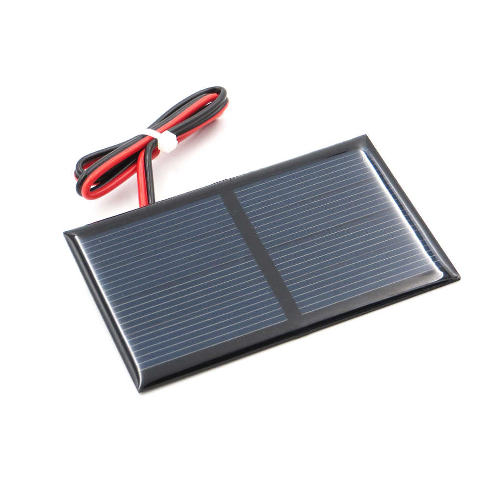 Polycrystalline Solar Panel 2V 300mA + 30cm extend cable DIY Battery Charger Module Mini Solar Cell wire toy