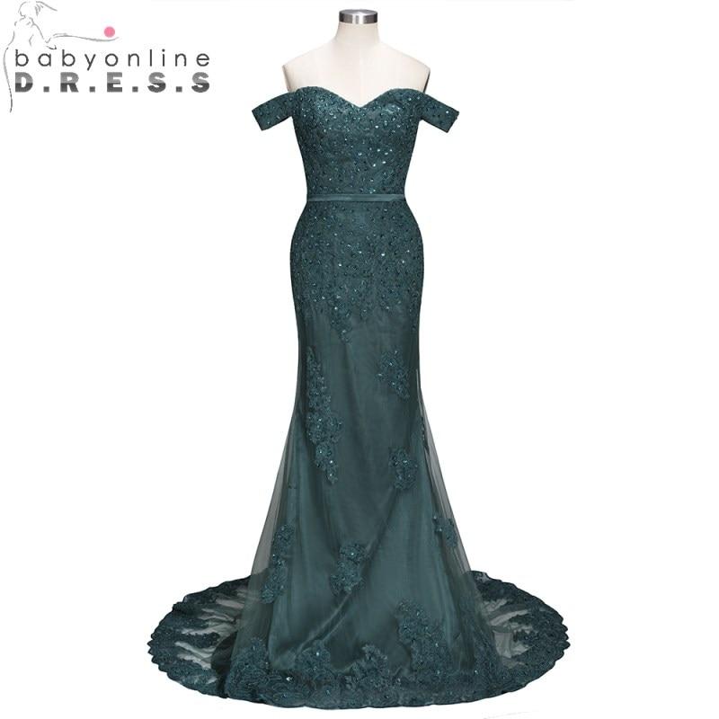Babyonlinedress Off Shoulder Sweetheart Mermaid   Evening     Dress   Long Appliques Pearls   Evening   Gown Robe de Soiree Longue