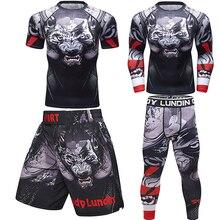 ММА футболки+ брюки для мужчин бокс Муай Тай шорты Рашгард джиу джитсу ММА кикбоксинг наборы трикотажные спортивные костюмы для фитнеса Bjj тренажерный зал боксео