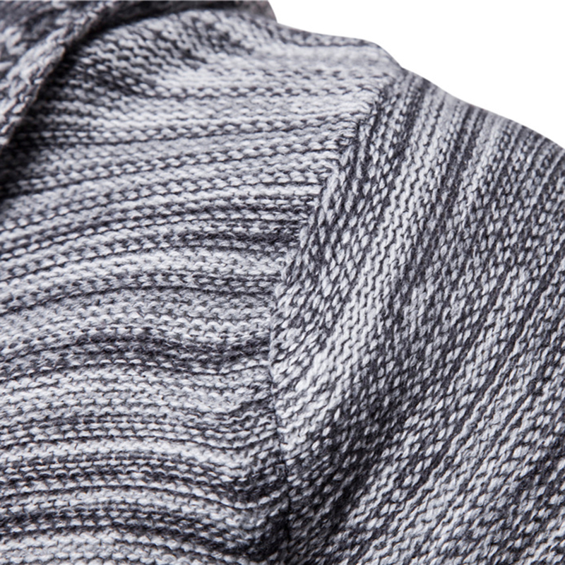 Fashion sweater men new arrival casual cardigan men winter hooded neck solid quality knitted brand male sweaters large size
