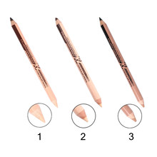 1Pcs New Double Headed Eyeliner Pencil Concealer Pen 3 Colors Best Waterproof Long Lasting Eye Beauty Makeup Tools TSLM1(China)