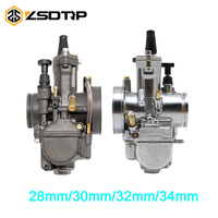 ZSDTRP Motorcycle parts motor AAA 4T ZSDTRP OKO Carburetor Modification 28 30 32 34mm Carb With Power Jet Fit Race Scooter